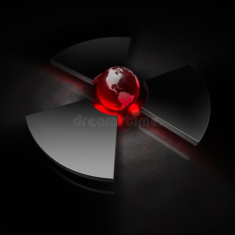 Mundo nuclear - América ilustração stock