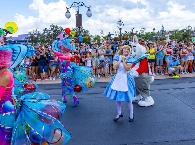 Mundo Orlando Florida Magic Kingdom Parade de Disney pateta imagens de stock