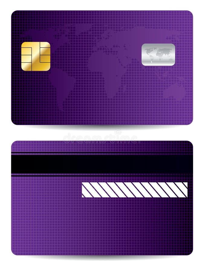 Mundo púrpura de la tarjeta de crédito libre illustration
