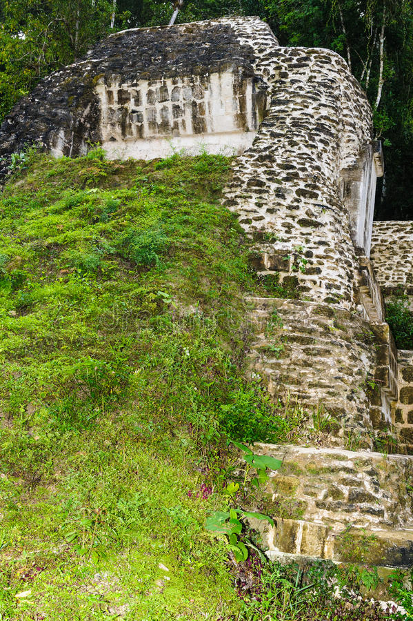 Mundo Perdido, Guatemala. Olaces for living built by mayas, Mundo Perdido, Guatemala royalty free stock photo