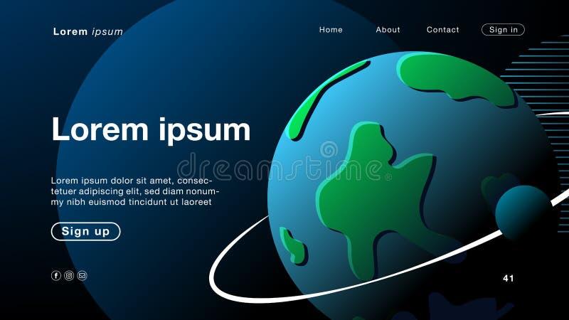 Mundo preto abstrato do fundo para o homepage ilustração royalty free