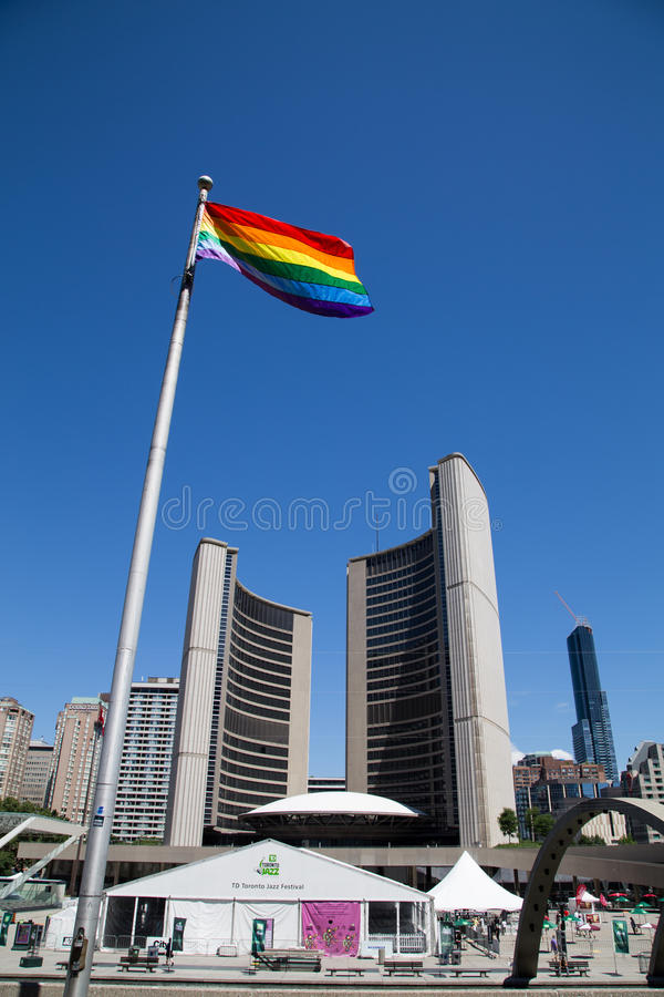 Mundo Pride Flag en Toronto foto de archivo