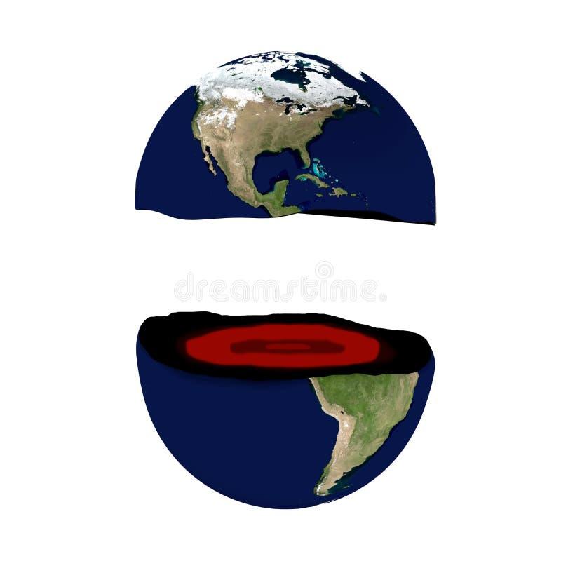Mundo quebrado, representación 3D stock de ilustración