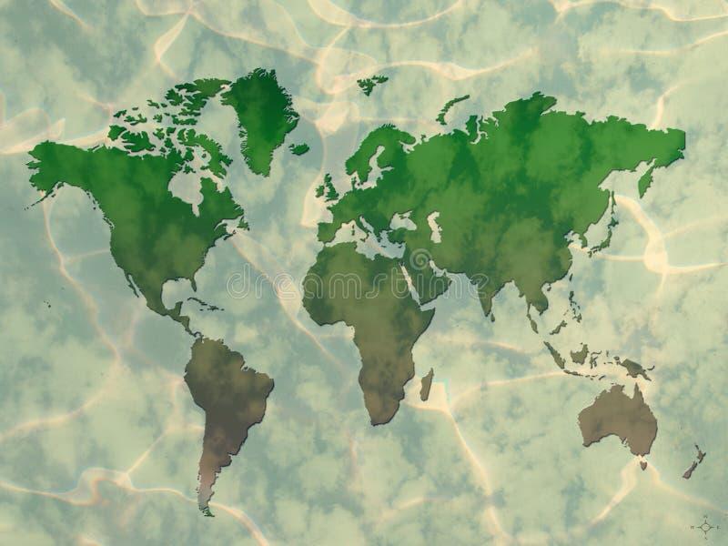 Mundo rústico ilustración del vector
