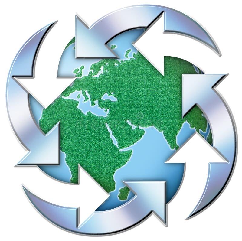 Mundo reciclado imagen de archivo