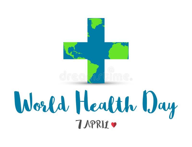 Mundo saúde dia o 7 de abril, dia global da conscientização da saúde ilustração royalty free