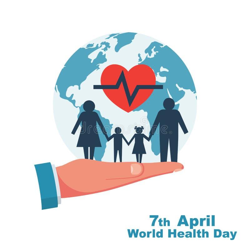 Mundo salud día 7 de abril libre illustration