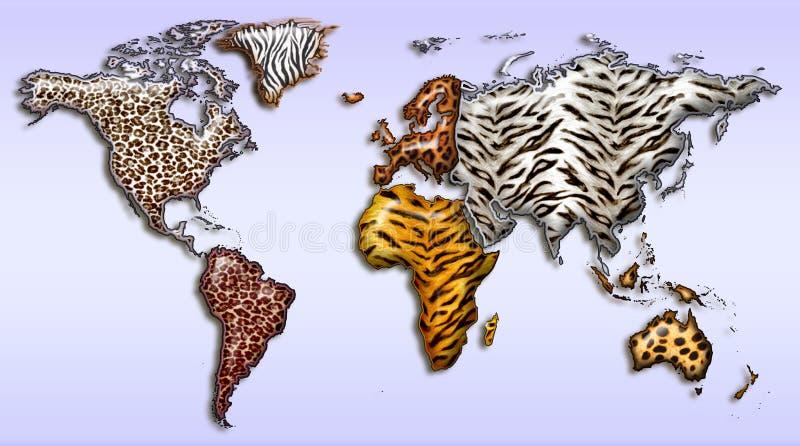 Mundo salvaje stock de ilustración