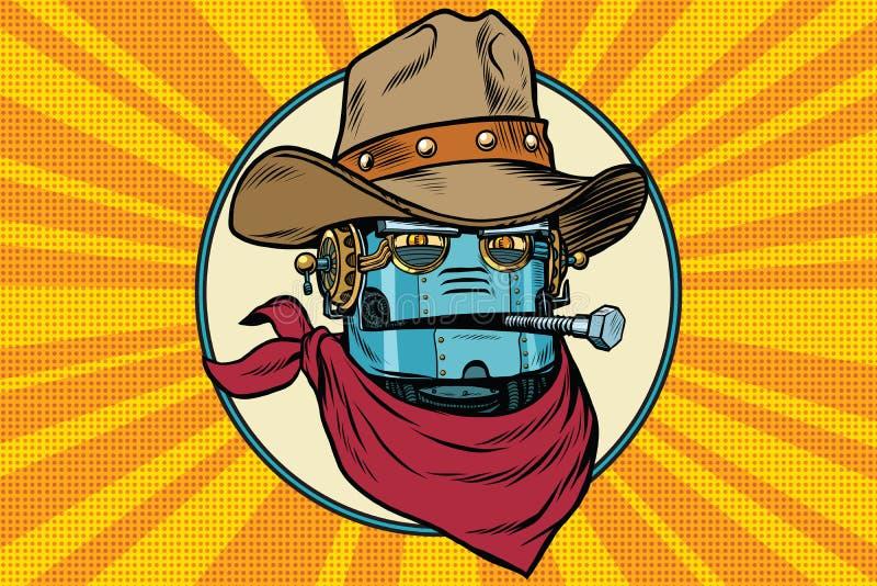 Mundo salvaje de West del vaquero del robot libre illustration