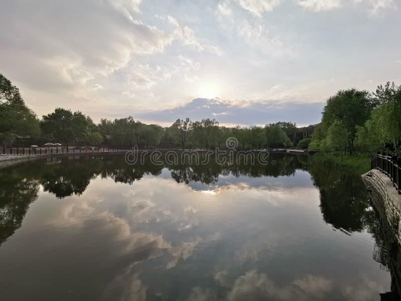 Mundo salvaje Jinan, China del lago @ imagenes de archivo