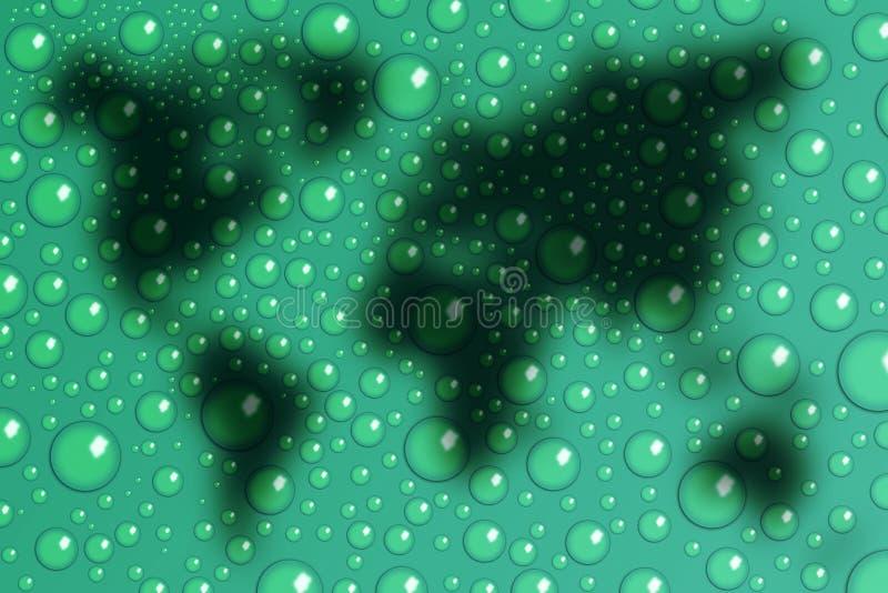 Mundo sobre gotas libre illustration