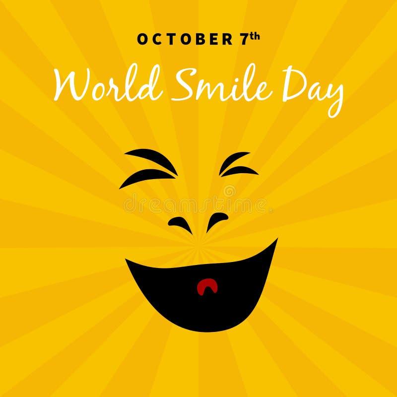 Mundo sonrisa día 2017 ejemplo del 7 de octubre stock de ilustración