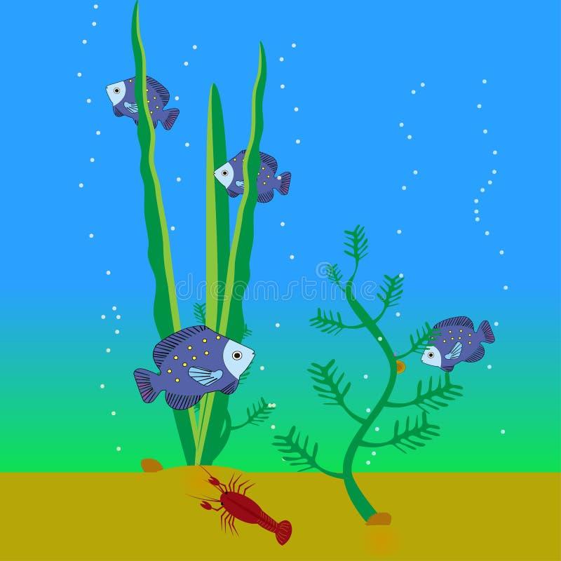 Mundo subaqu?tico ilustração royalty free