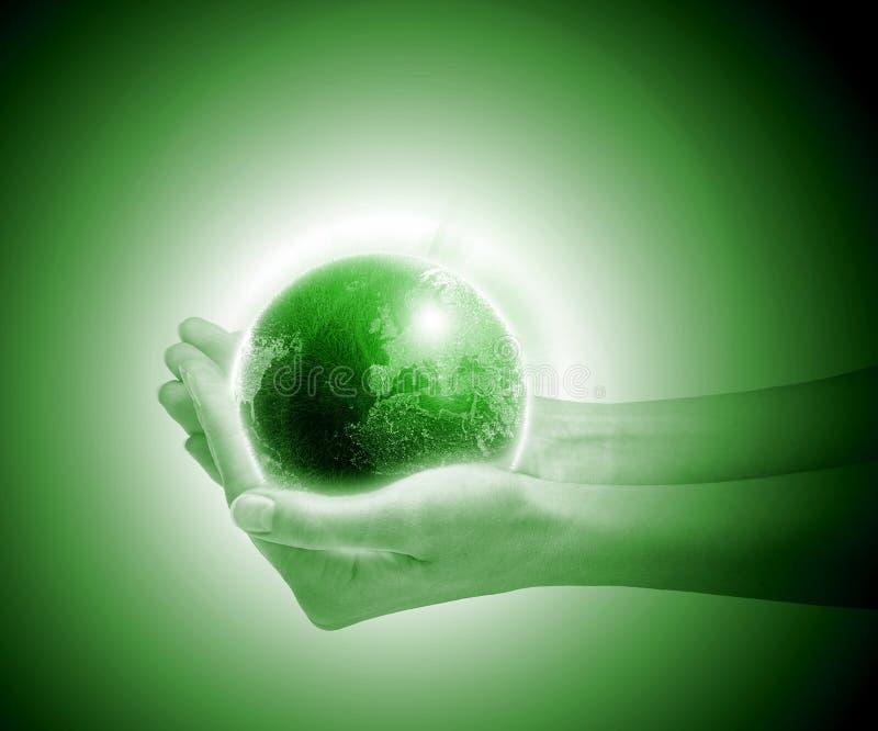 Mundo verde ilustração royalty free