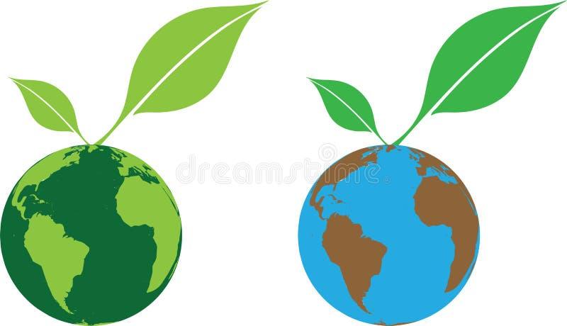 Mundo verde stock de ilustración