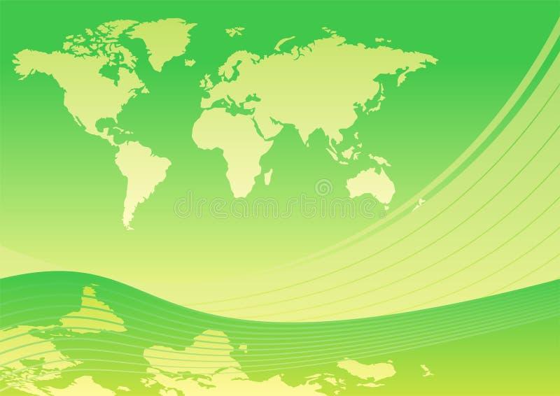Mundo verde ilustração do vetor