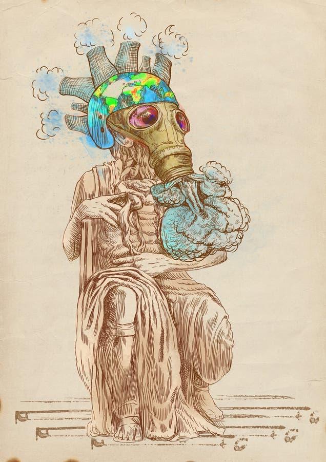 Mundo verde - Moses novo ilustração stock
