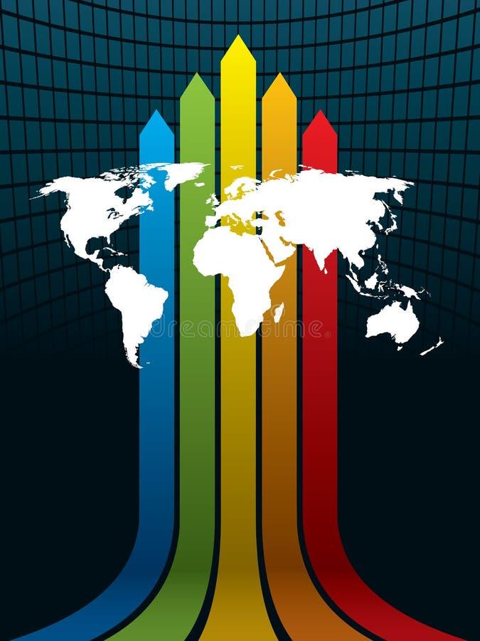 Mundo y arco iris ilustración del vector