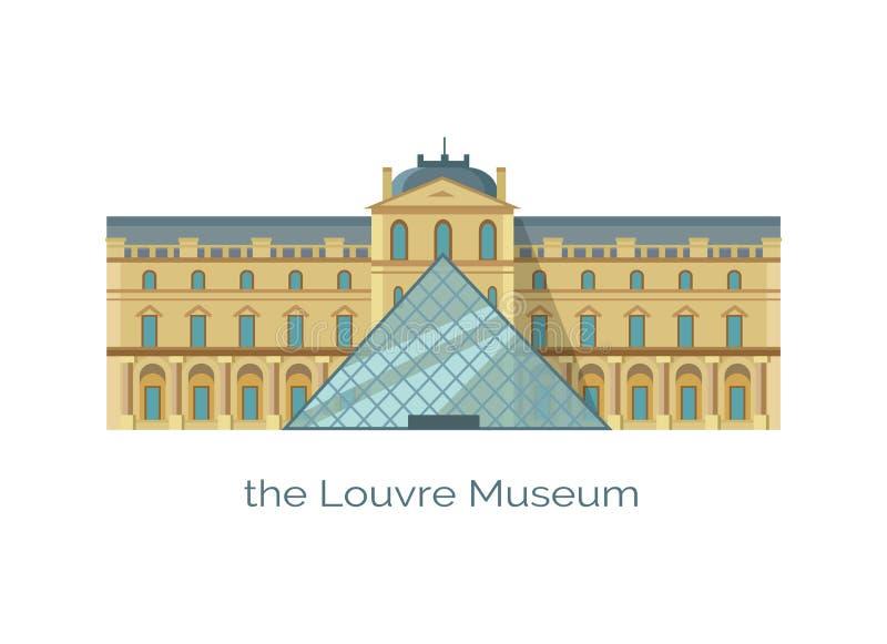 Mundos Art Historic Monument o maior do museu do Louvre ilustração do vetor