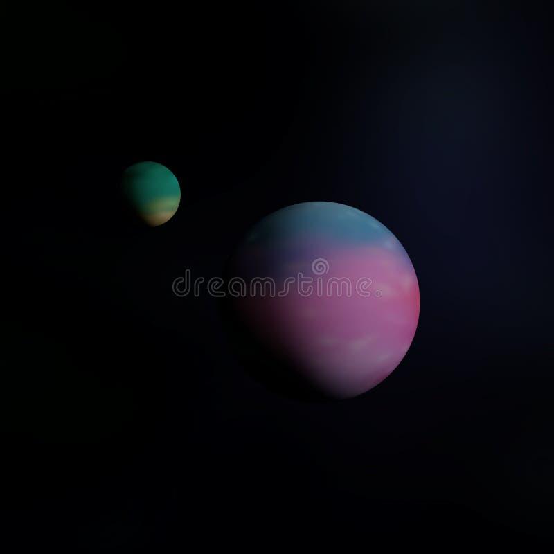 Mundos coloreados distantes foto de archivo libre de regalías