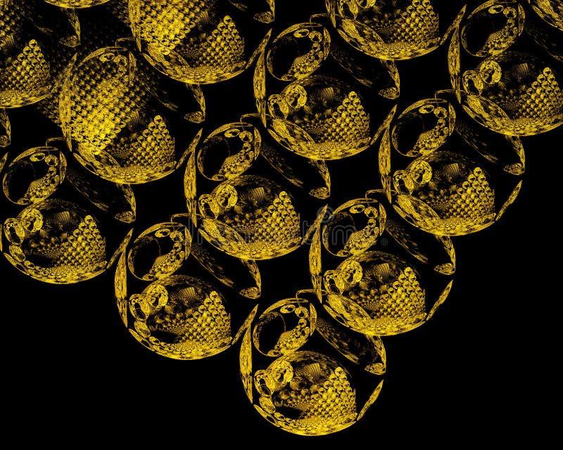 Mundos dourados ilustração do vetor