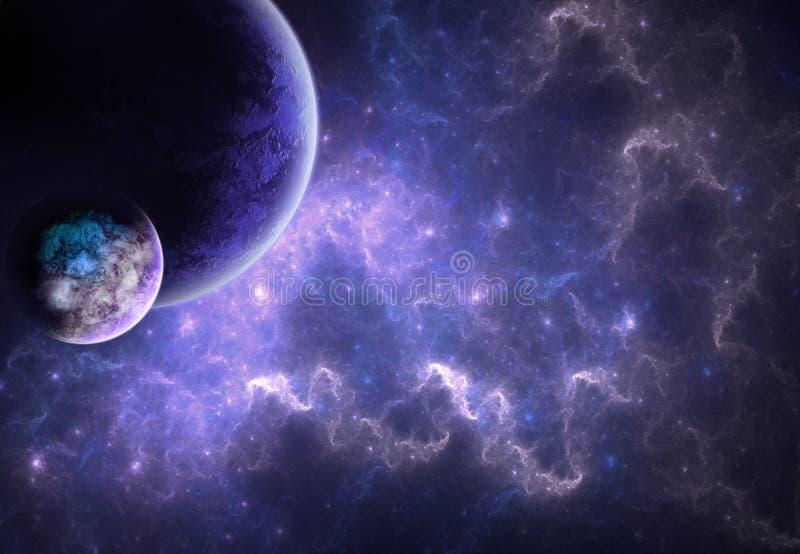 Mundos en el cielo ilustración del vector