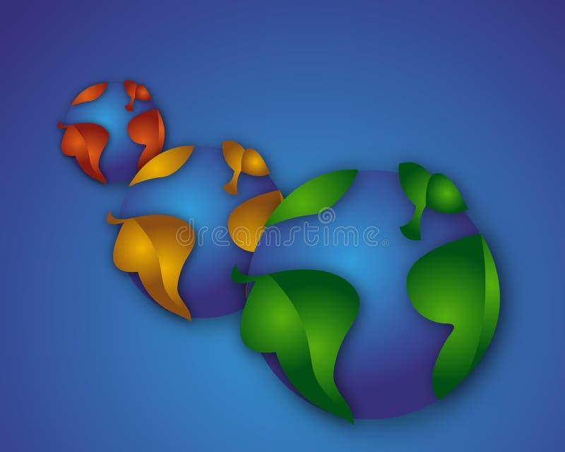 Mundos más verdes stock de ilustración