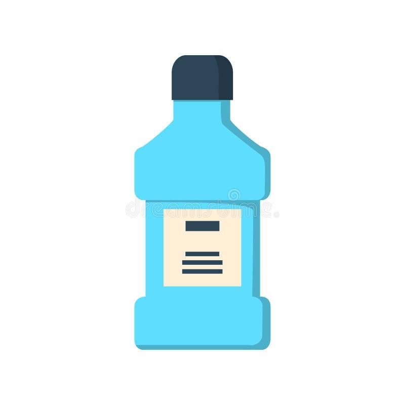 Mundwasserflasche lokalisiert lizenzfreie abbildung