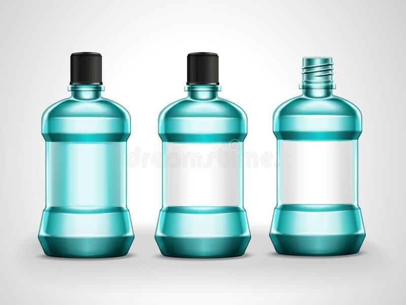 Mundwassermodellsatz lizenzfreie abbildung