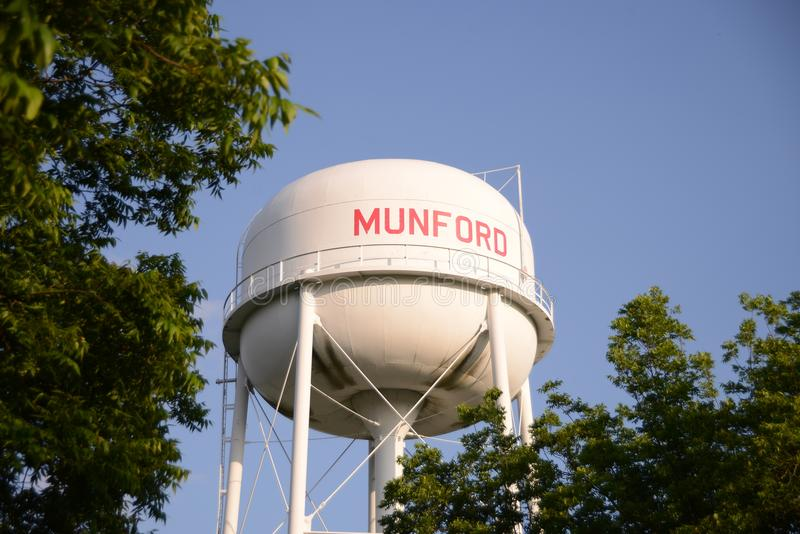 Munford Tennessee Water Tower fotografia de stock royalty free