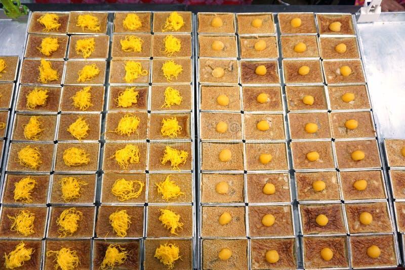 Mung ταϊλανδικό επιδόρπιο κρέμας φασολιών στοκ φωτογραφίες