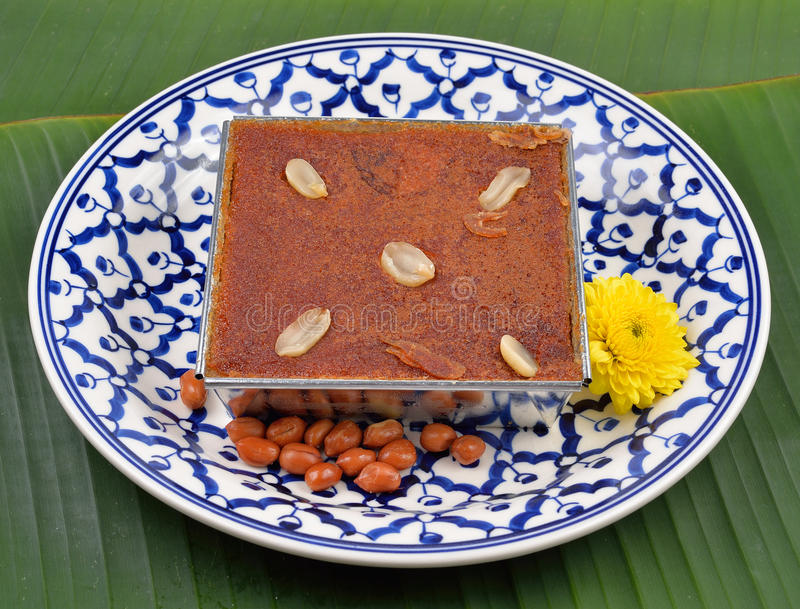 Mung ταϊλανδικό επιδόρπιο κρέμας φασολιών στοκ εικόνες