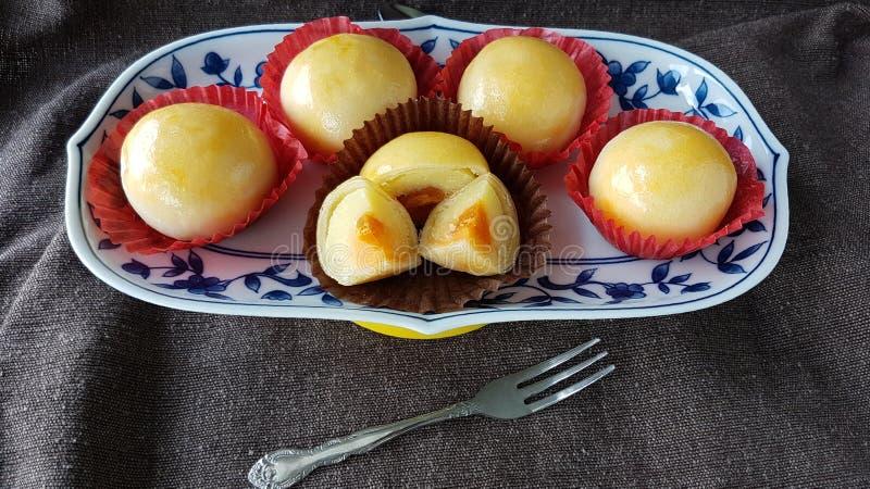 mung φασολιών αλατισμένη ζύμη κέικ αυγών κινεζική ταϊλανδική στοκ φωτογραφίες με δικαίωμα ελεύθερης χρήσης
