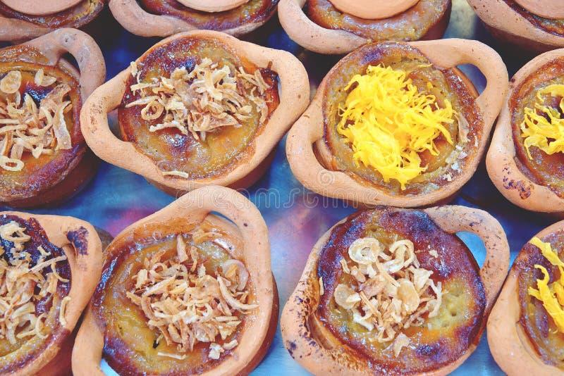 Mung Bean Thai Custard Dessert Recipe Khanom Maw Kaeng arkivbilder