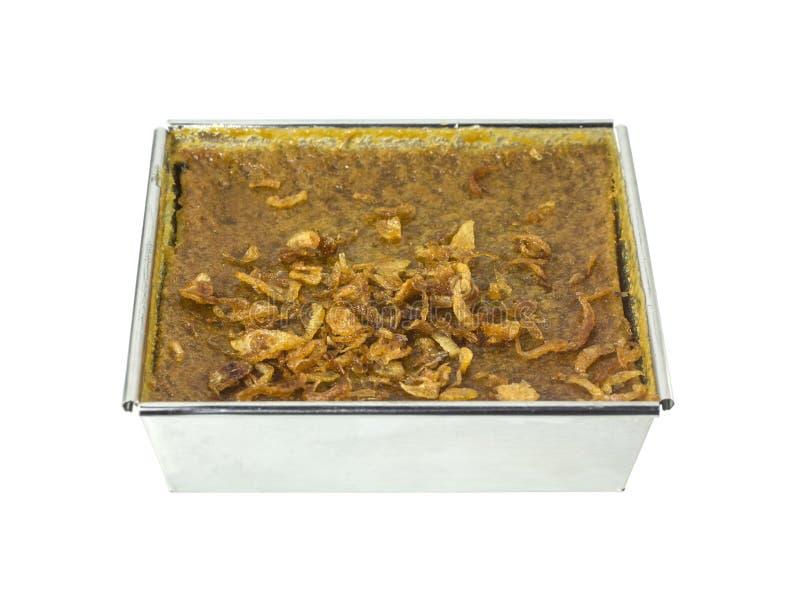 Mung Bean Thai Custard Dessert Recipe (Khanom-Schlund Kaeng) lizenzfreies stockfoto