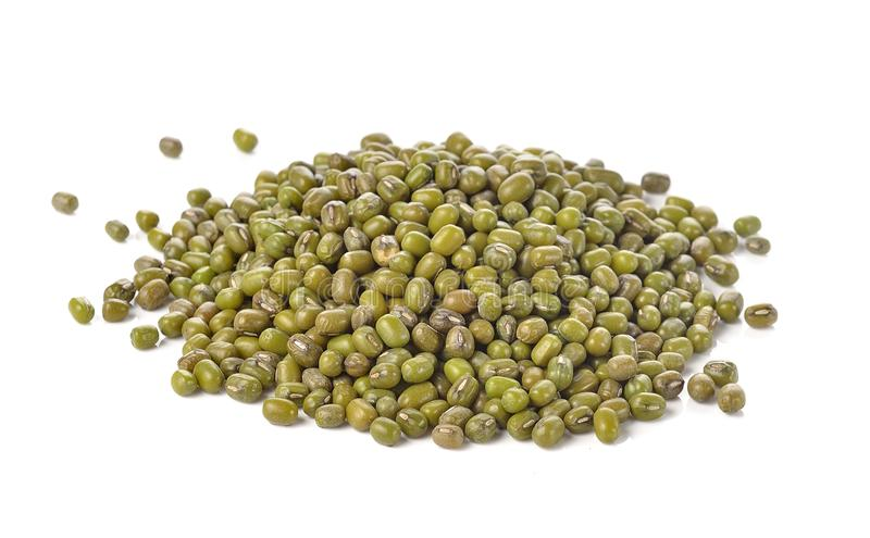 Mung beans isolated on white background royalty free stock photo
