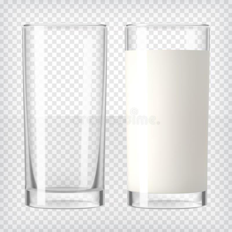 Munga in un vetro di vetro e vuoto illustrazione vettoriale