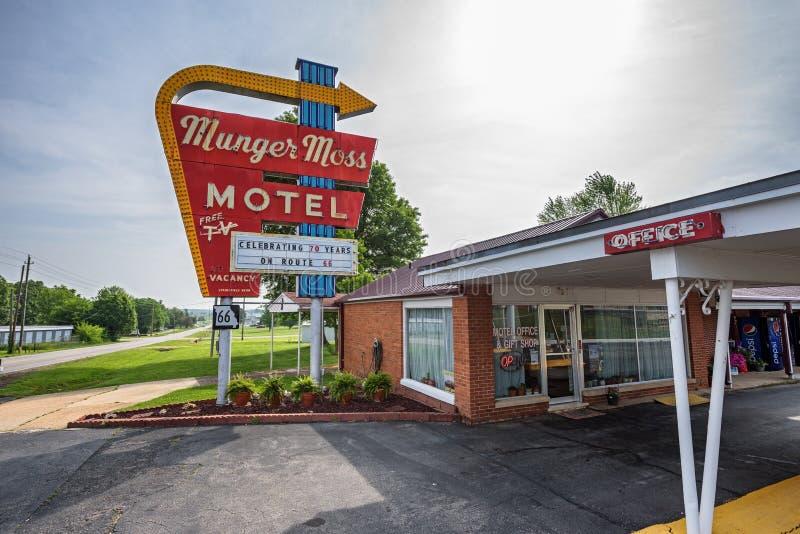 Munger Moss Motel sur l'itinéraire 66 au Missouri photos libres de droits