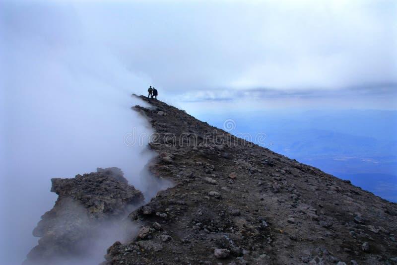 Mungibeddu aka Mt Etna jest wysokim europejskim wulkanem obraz stock