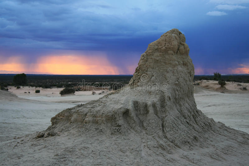 Mungo National Park NSW Australien arkivfoto