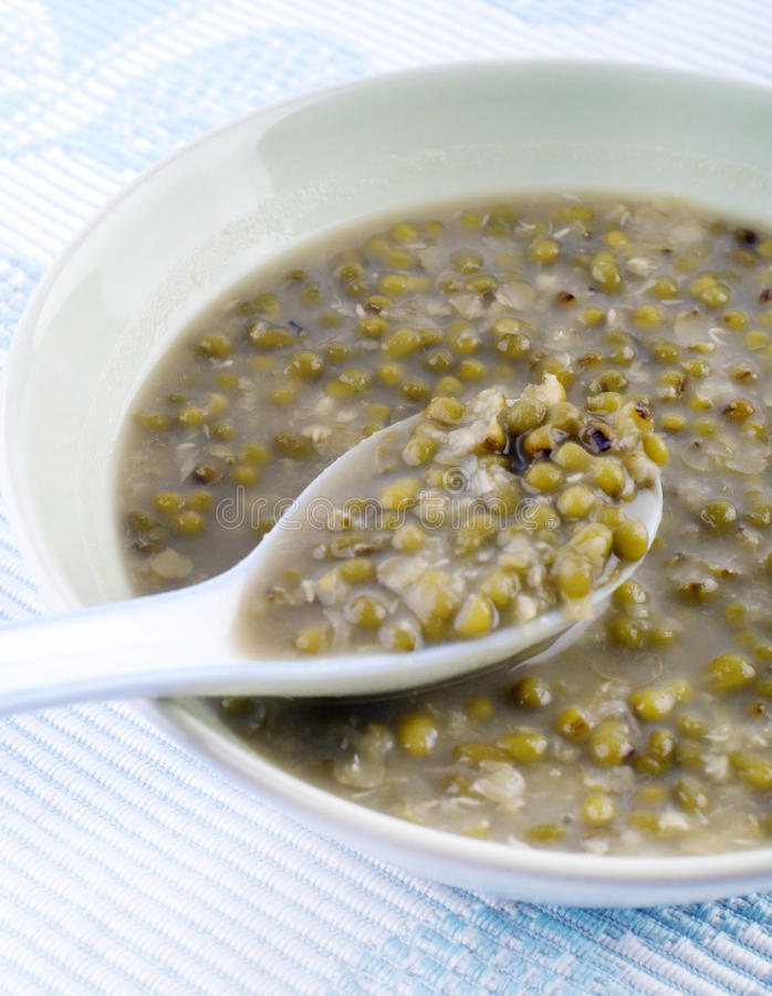 Mungobohne-Bonbon-Suppe stockfoto
