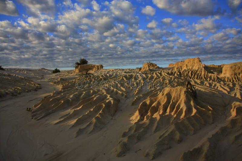 Mungonationalpark, NSW, Australien arkivbild