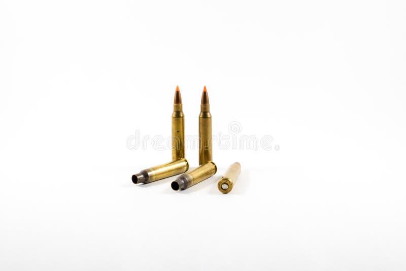 Munição balística da ponta de 223 calibres foto de stock
