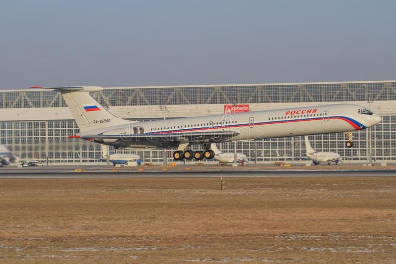 Russian Air Force Il-62 stock photography