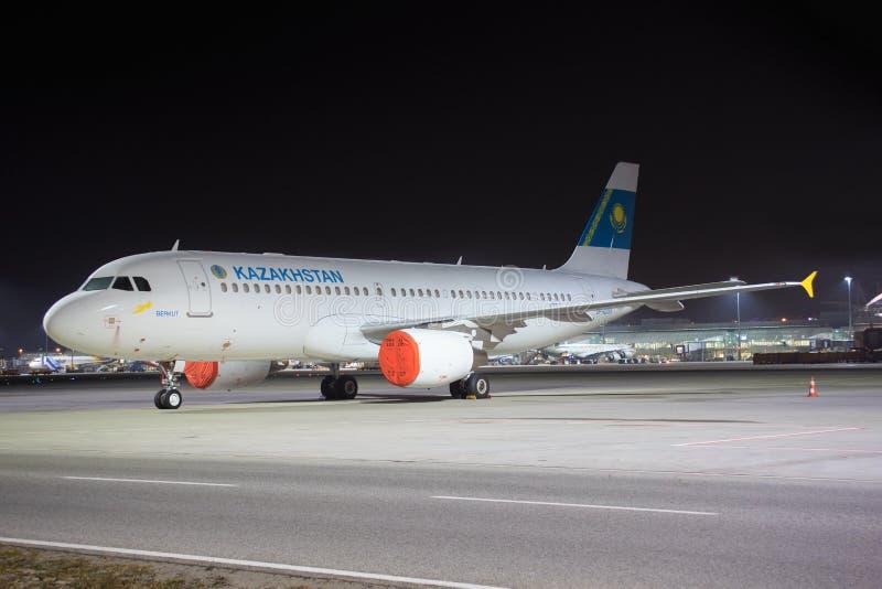 Kazakhstan. Munic/germany: Kazakhstan at Munic Airport in Munic 18.02.2017 stock images