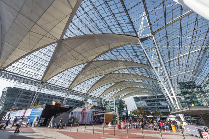 Munich airport royalty free stock photography