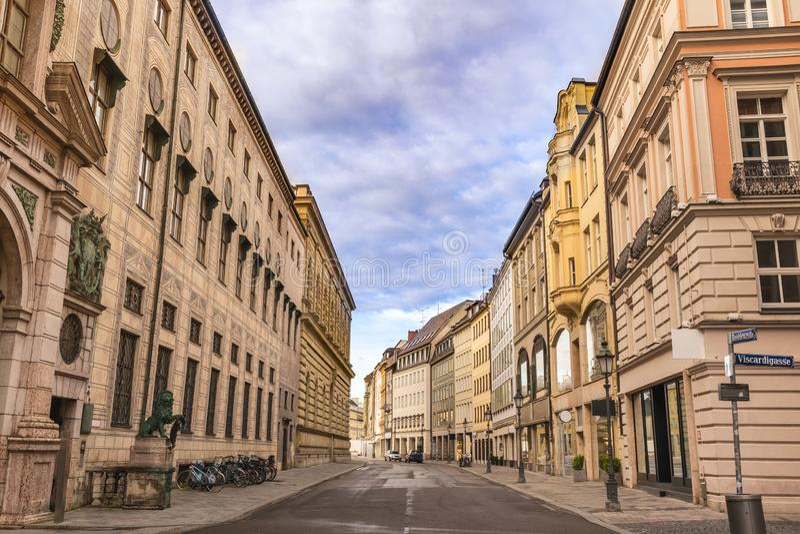 Munich Alemanha, rua de Residenz fotos de stock