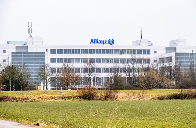 Munich, Alemania - 16 de febrero de 2018: Las jefaturas de Allianz están situadas en la ciudad de Munich, Alemania foto de archivo libre de regalías