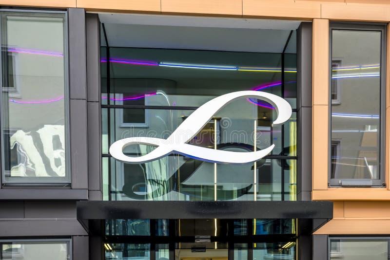 Munich, Alemania - 16 de febrero de 2018: Linde Group es un proveedor principal del mundo de industrial, de proceso y la especial foto de archivo
