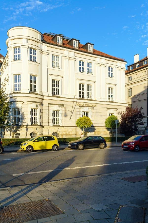 Munich, Alemania - 20 de octubre de 2017: El edificio de la Munich imagen de archivo libre de regalías
